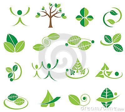Vector Green Leaves Logotype Icons, Ecology Designs - Download From Over 56 Million High Quality Stock Photos, Images, Vectors. Sign up for FREE today. Image: 88782168
