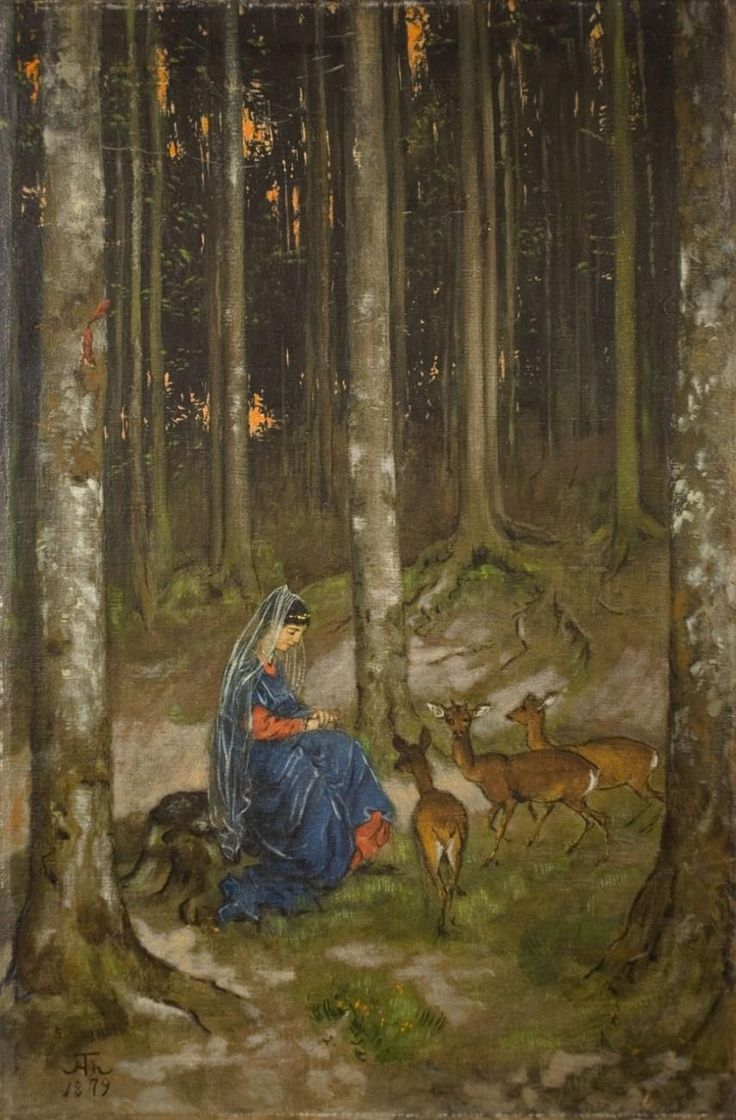 Genoveva in the Solitude of the Forest, 1879, Hans Thoma