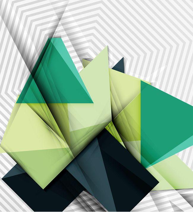 Fundo abstrato vector material, A Geometria, Triângulo, VerdePNG e Vector