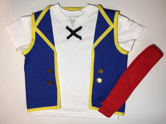 Toddlers pirate costume boy costume-handmade pirate dress up