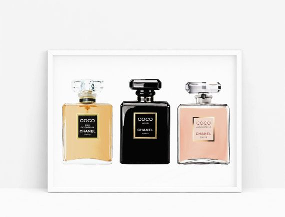 Coco mademoiselle bottle. Coco noir perfume. Fashion por Byoliart