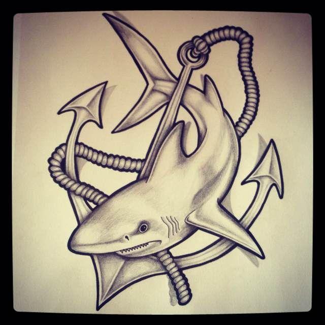 Shark and anchor...tat idea
