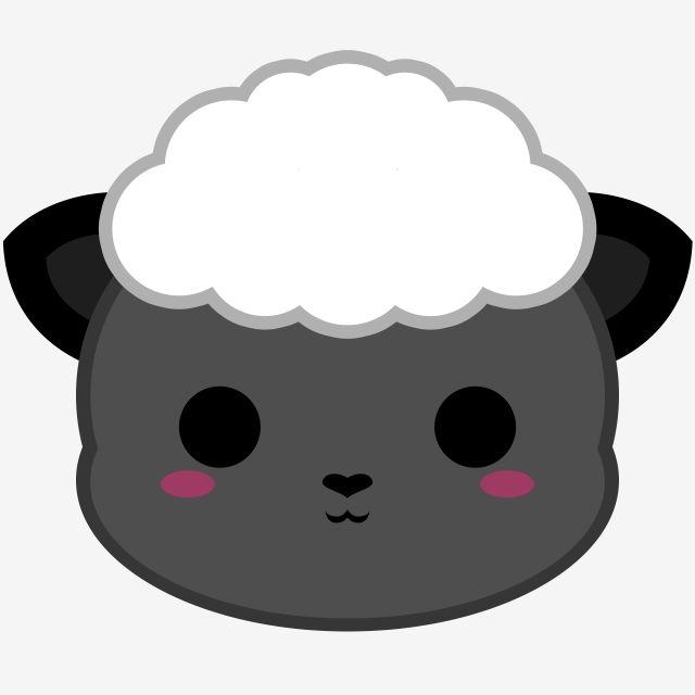 Cute Black Sheep Head Sheep Black Fur Png Transparent Clipart Image And Psd File For Free Download Cute Cartoon Drawings Cute Kawaii Drawings Cute Kawaii Girl