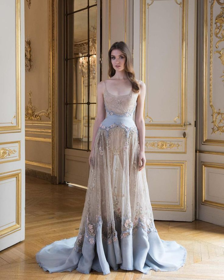 "2,476 Likes, 14 Comments - Paolo Sebastian (@paolo_sebastian) on Instagram: ""Reverie • PSAW1809 Embroidered gown with organza and tulle cut-work #AW1718 #Couture…"""