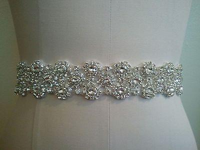 Wedding Dress Sash Belt - Oval Shape Crystal Sash Belt = Big Sale!!