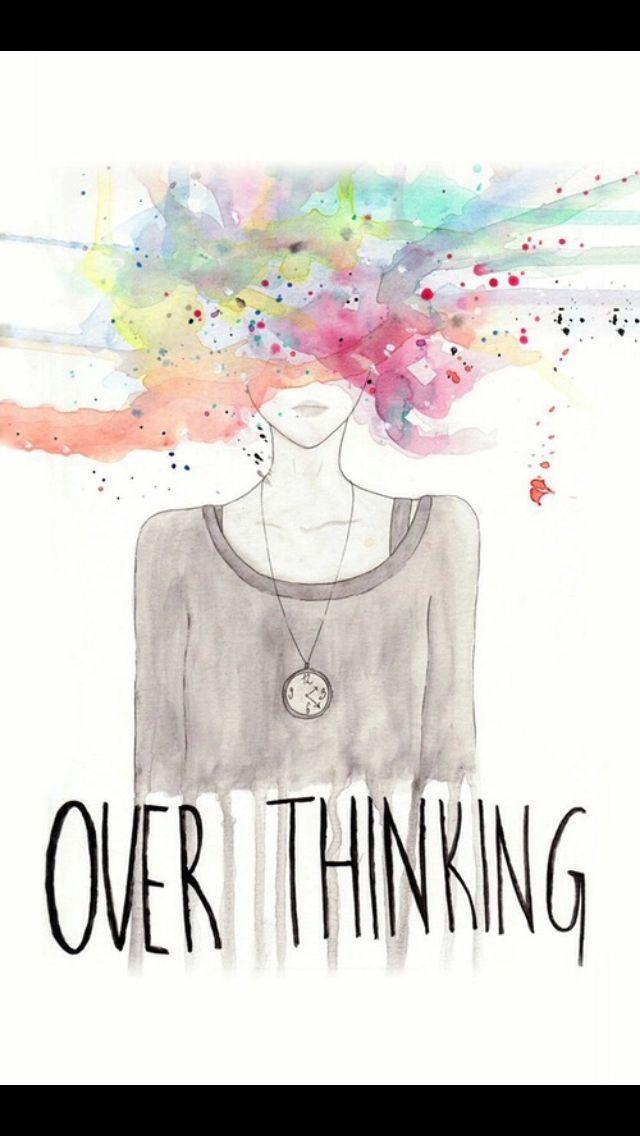 Overthinking, lock screen, wallpaper