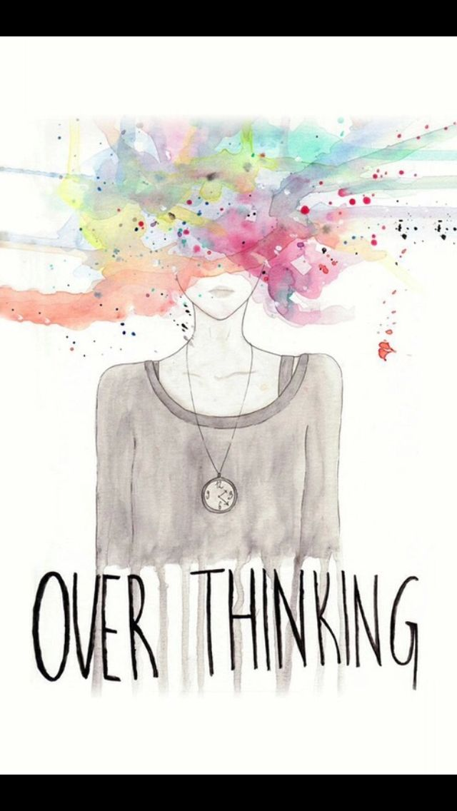 Overthinking, lock screen, wallpaper