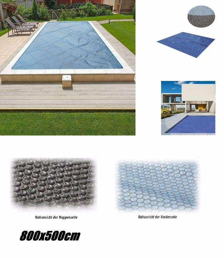 Solarplane Pool Wärmeplane 800x500cm für Poolheizung Solarfolie Solarheizung Neu