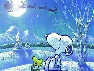 Christmas Snoopy can talk to santas deers! WHY! DAaa, because he's SNOOPY.