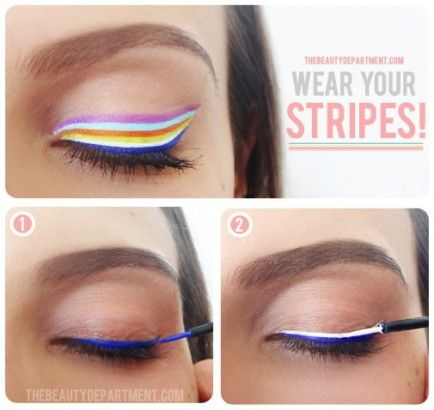 Rainbow eyes this would be awesome for a unicorn costume