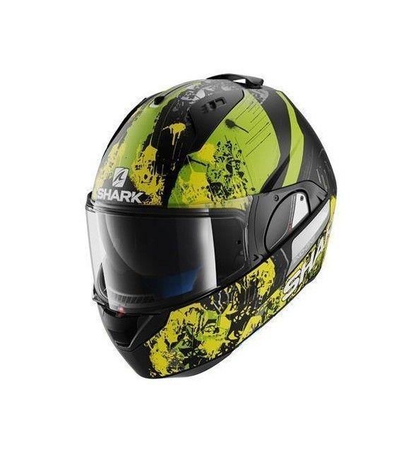 El casco de moto evo-one ofrece una gran aerodinámica, funcionalidad y la máxima seguridad para el usuario. Además, su sistema de auto-sellado de la pantalla proporciona un mejor aislamiento del exterior, que otros modelos de la competencia.