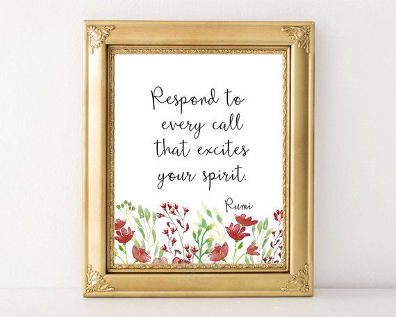 Rumi Quote Printable Wall Art Inspirational Typography Etsy Printable Wall Art Wall Printables Wall Art