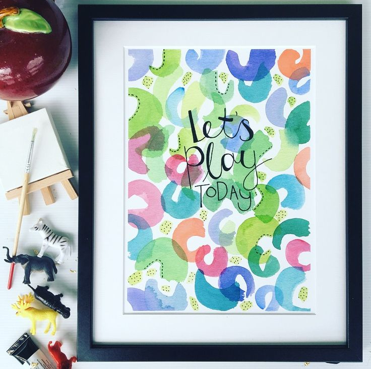 'Let's play Today!' Watercolour/ink original artwork - available in fine art archival print.