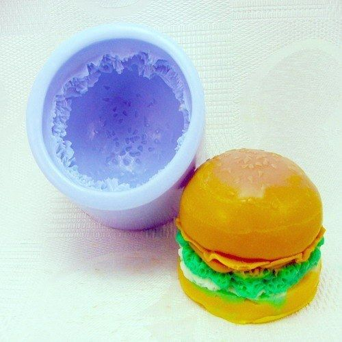 Lovely Hamburger Silicone Handmade Soap Mold  Biscuit Mold
