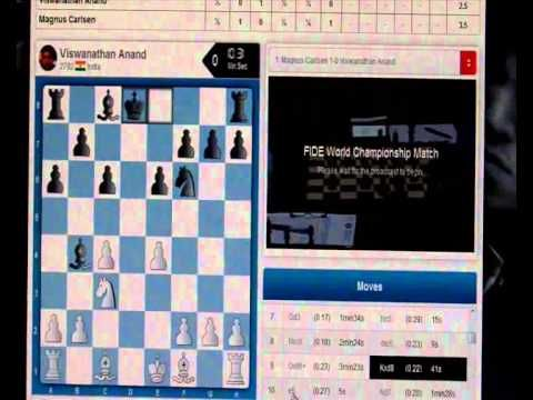 Anand vs Carlsen: WCC 2014, Game 6 by Ricardo Arenas.