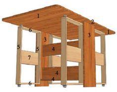 Как сделать стол-книжку своими руками за несколько часов - Vashdom.ru