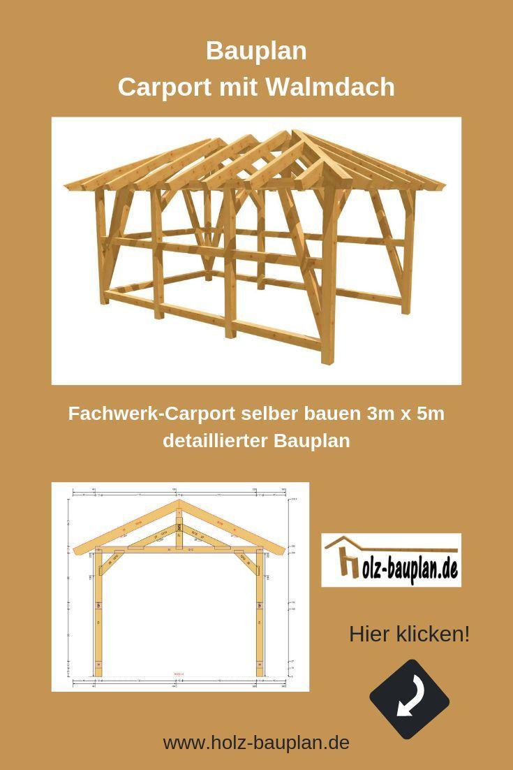 Carport Zeichnung Selber Machen Bauplane Fur Wohnmobil Bauen Individuell