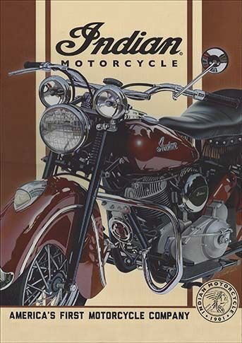 22659. - MOTORCYCLE - INDIAN - 29x41.