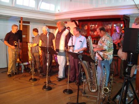 Jazz Musicians perform on board the SS Sicamous, Penticton. Part of the Pentastic Jazz Festival held annually in September