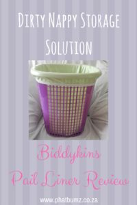 A great storage solution for your dirty nappies.