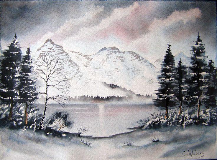 Frosty Mountain 15 x 11 watercolour