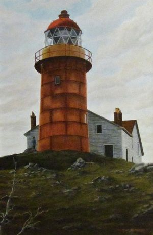 """The Sentinel"" Ferryland Lighthouse circa 1980 by Bill Richardson"