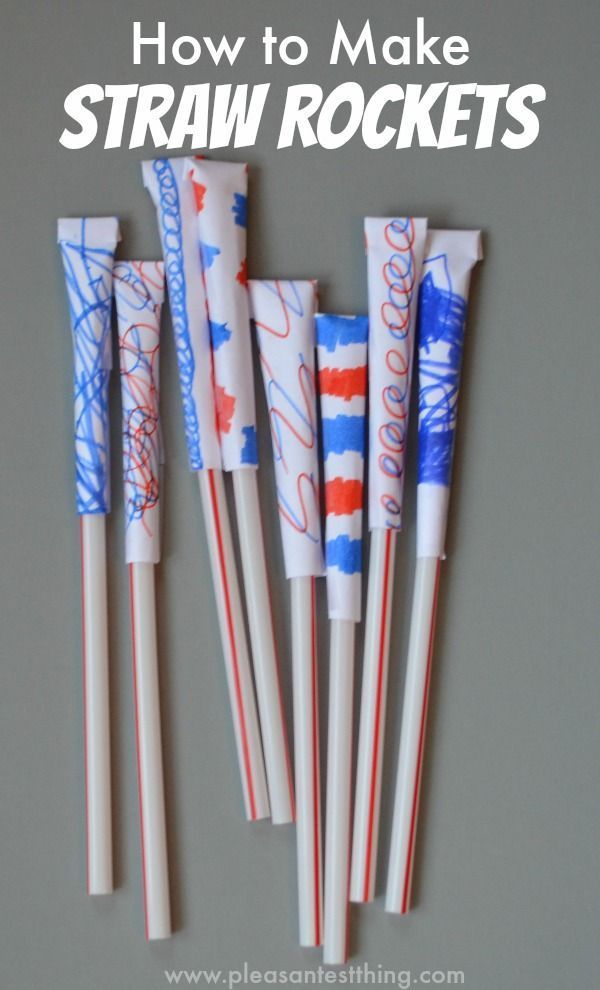 How to Make Straw Rockets. the kids would love this for inside recess!