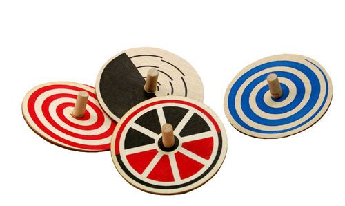 Old Fashioned spinning tops.  I like that they are made in the USA.
