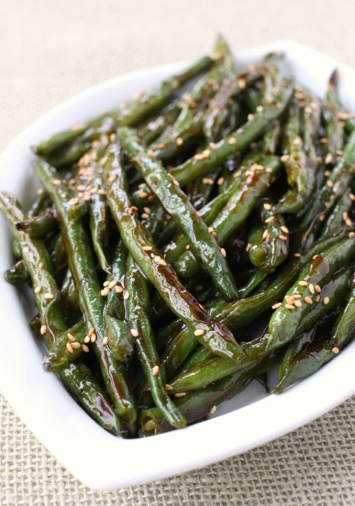 Roasted Asian Green Beans are the most amazing side dish - They might even take over the main coarse!