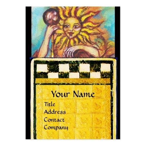 TAROTS OF THE LOST SHADOWS 19 / THE SUN LARGE BUSINESS CARD by Bulgan Lumini (c)  #tarot #psychicreader #psychics #fineart #artist #lion #nature