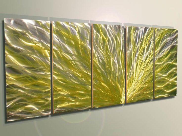 metal oil metal wall art sculpture painting yellow the original nature of the meta