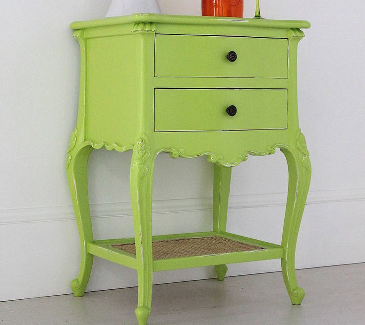 lime french bedside table by out there interiors | notonthehighstreet.com