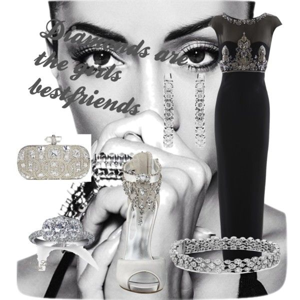 """""""Diamonds are the girls bestfriends"""" by mariasty on Polyvore"""
