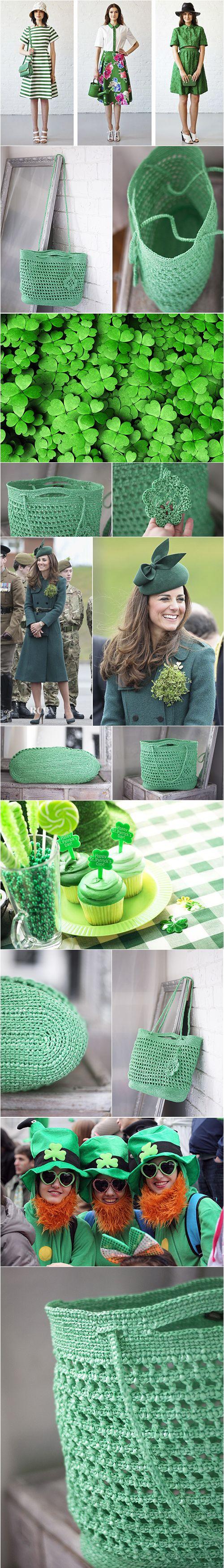 Spring Fashion, Green Bag, St Patricks Day Large Eco Upcycled Bag, Crochet Handbag Big, Lightweight Grass Tote, Summer Spring Beach Plarn Bag, #frombabushkashop, plarn bag