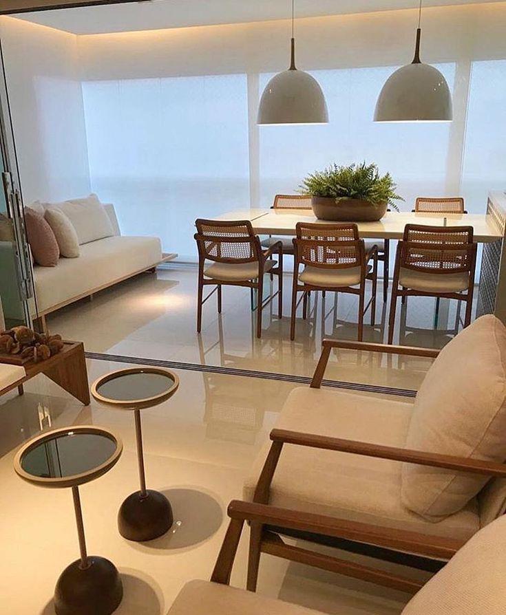 Sala de estar e varanda integradas. Oved Adorei! – Projeto Thaís Abreu – 💐 | Me siga …   – Sala Integrada Varanda