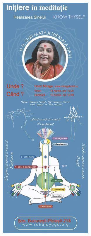 Initiere in meditatie. Lumina din interior Hotel Mirage Snagov Tâncăbești. Evenimente spirituale Ilfov. Umblat.ro