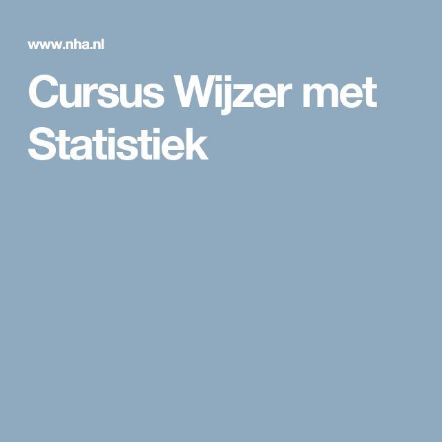 Cursus Wijzer met Statistiek