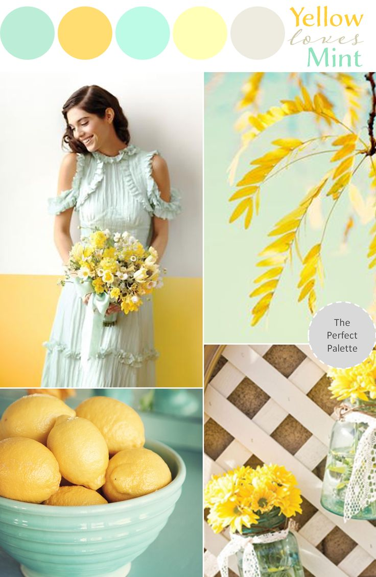 Mint Loves Yellow - www.theperfectpalette.com - Wedding Color Ideas