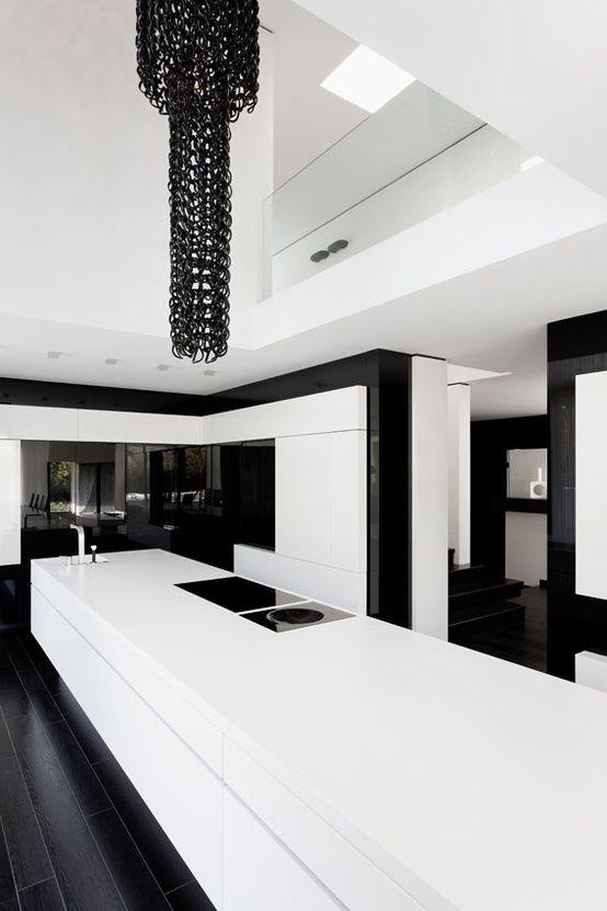Kitchen Casa Murano ByLEE+MIR, Futuristic Interior Design, Minimalistic, Modern Architecture #NEB #noiretblanc #noiretblancbrand #blackandwhite #house #deco