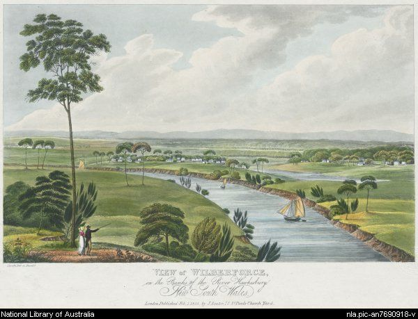 View of Wilberforce on the banks of the River Hawkesbury, New South Wales : Published by J. Souter, Feb.1, 1825