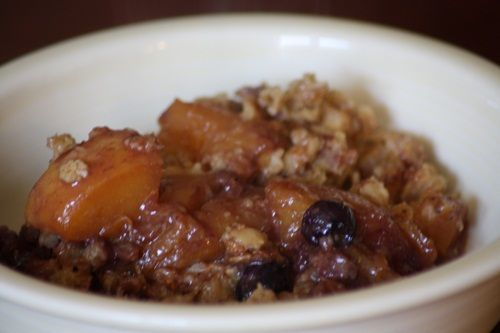 Blueberry Peach Baked Oatmeal - Simple Foody