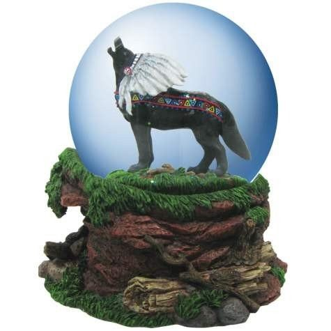 Item Number: 14172 Dimensions: 5 x 5 x 6 inches Weight: 2.50 lb Call To Spirits 100mm Musical Water Globe from Giftware is part of the Call of The Wolf line of collectible figurines. It plays the tune