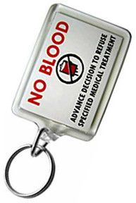 """No Blood"" Keychain – JW Bible Covers and Keychains LLC I need this I,have to order 3 ."