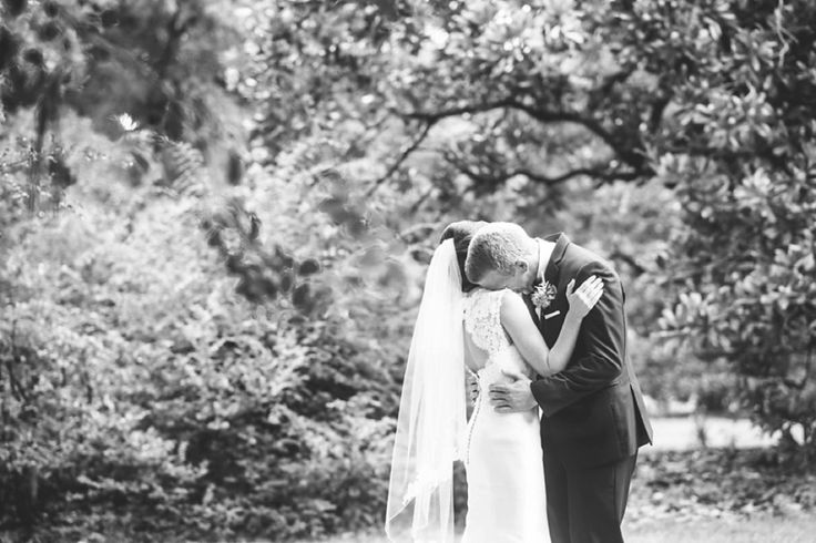 Groom crying at an emotional first look! // Charleston wedding by Aaron and Jillian Photography