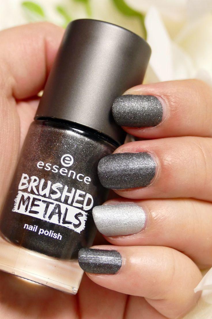| Werbung – Branding | #essence Metall gebürstet Nagellack Farbe 06 grau. Ein … #werbung #branding #brushed #color –  –