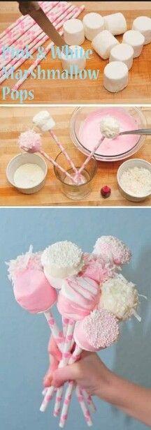 Marshmallow & chocolate lollipops