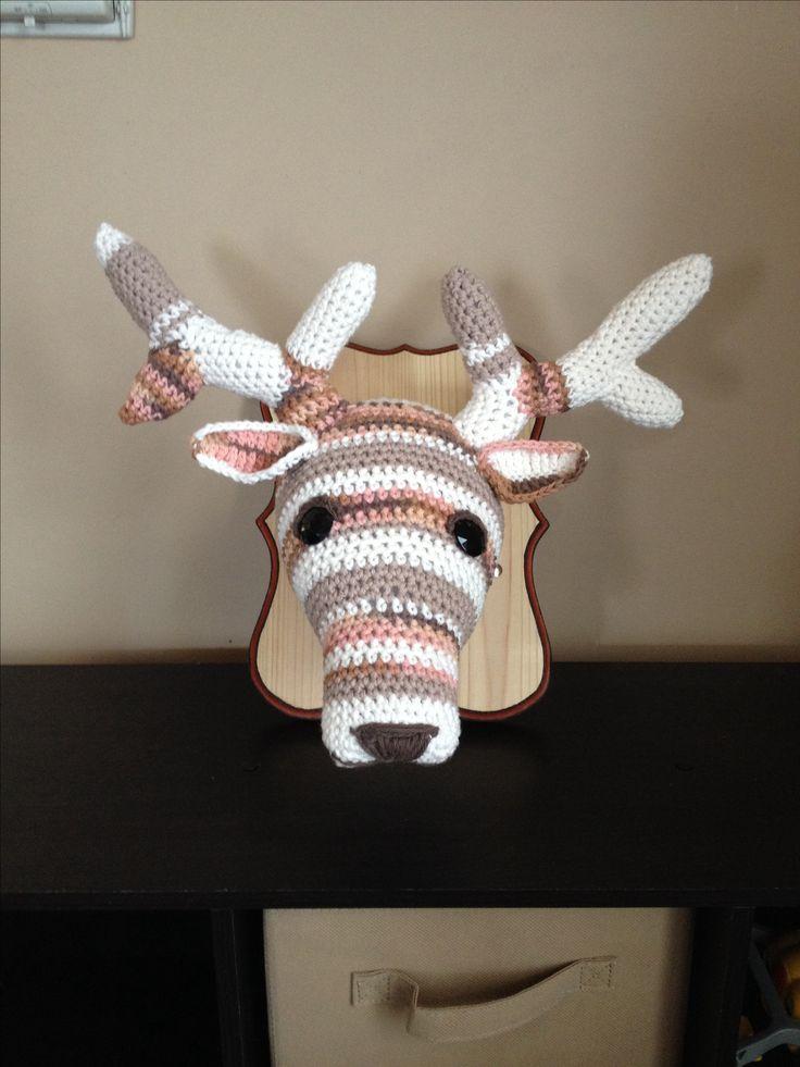 Crochet deer head DIY - Wall trophy / taxidermy ...