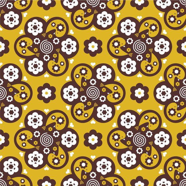 Birdy Bloom yellow by Sari Ahokainen
