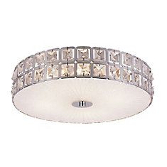 Graniglia Crystal and Chrome 15 inch Flush Mount