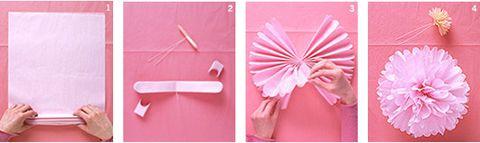 Pom-pom dekoráció selyempapírból
